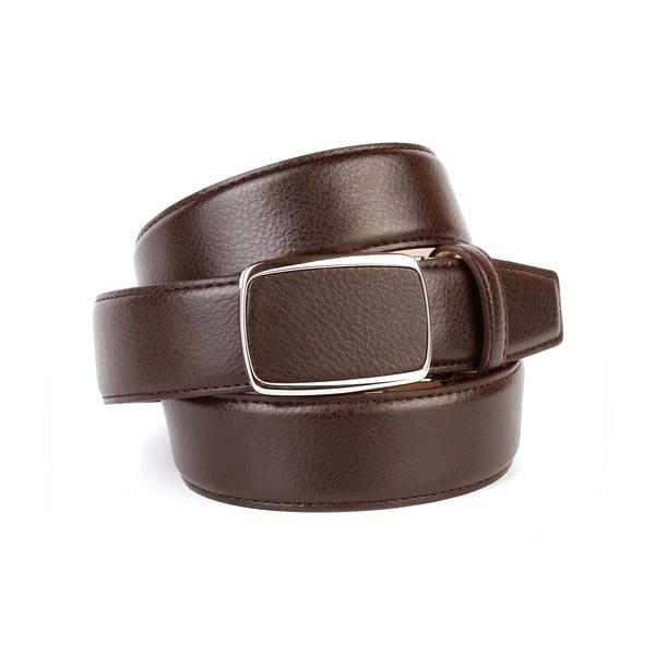 Pánský kožený pásek 10T20 Brown, 90 cm