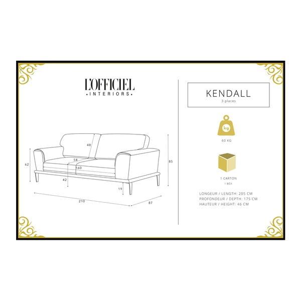 Mentolová pohovka pro tři L'Officiel Kendall