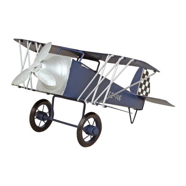 Kovová dekorace ve tvaru letadla Strömshaga