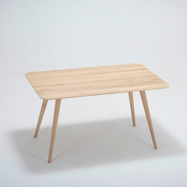 Stafa tölgyfa étkezőasztal, 140 x 90 x 75,5 cm - Gazzda