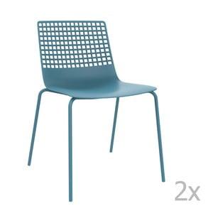 Sada 2 modrých zahradních židlí Resol Wire