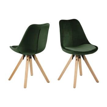 Set 2 scaune Actona Damia Velvet, kaki de la Actona