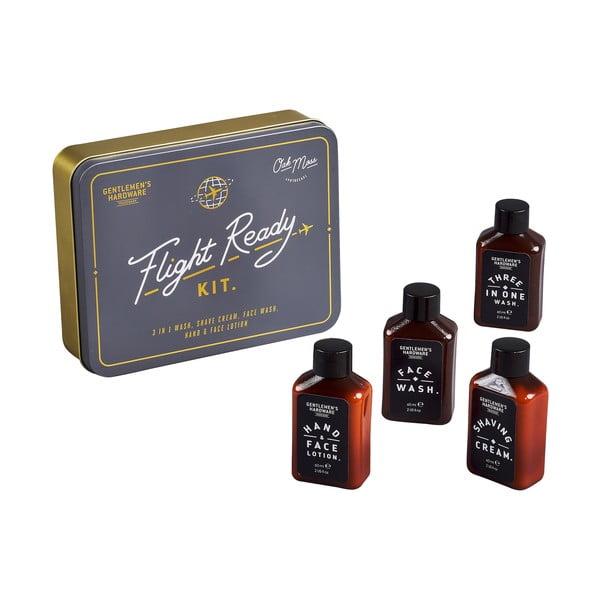 Plechová škatuľka s cestovným balením pánskej kozmetiky Gentlemen´s Hardware