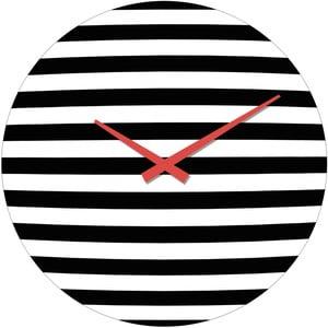 Skleněné hodiny Pruhy, 34 cm