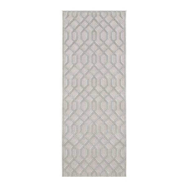 Covor Mint Rugs Shine Karro, 80 x 250 cm, gri
