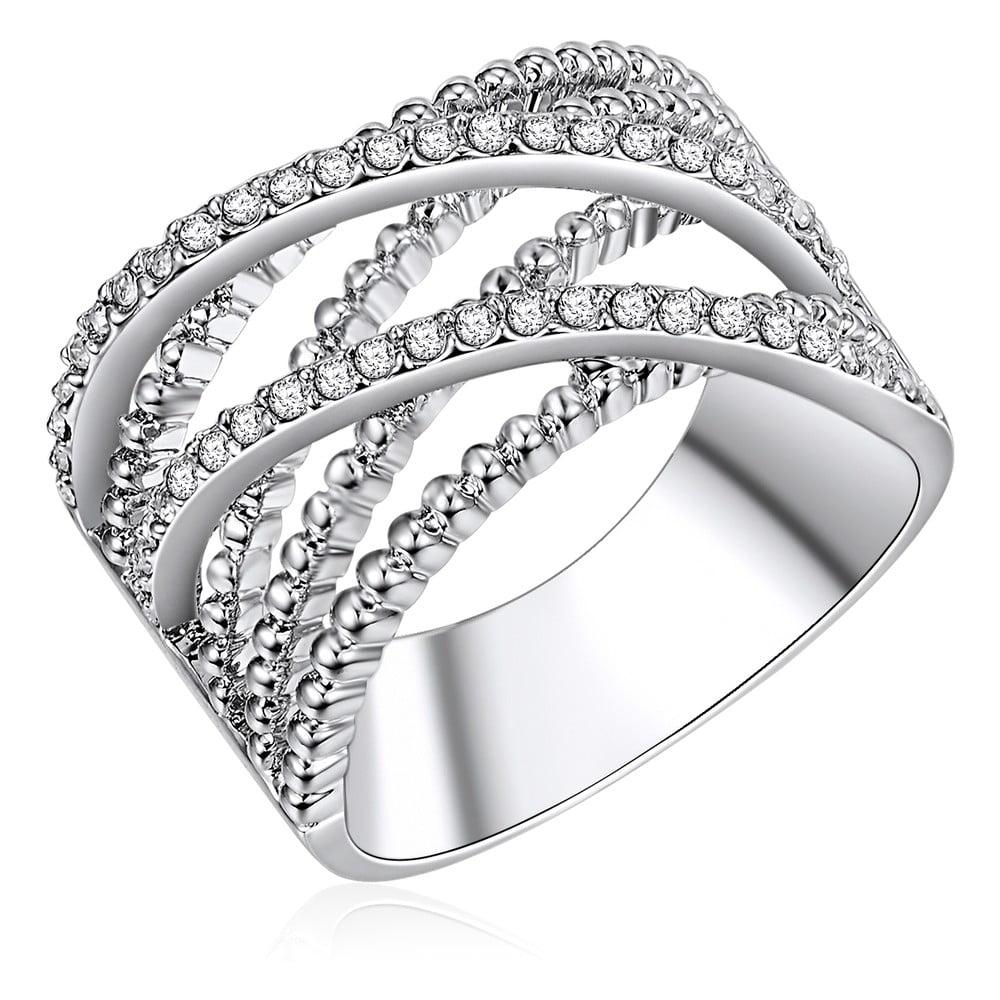 Dámský prsten stříbrné barvy Runaway Criss, 52