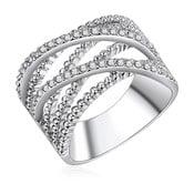 Dámský prsten stříbrné barvy Runaway Criss, 58
