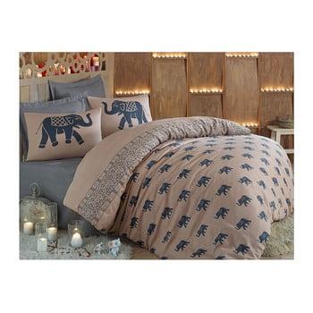 Lenjerie de pat cu cearșaf Fil, 200x220cm de la Eponj Home