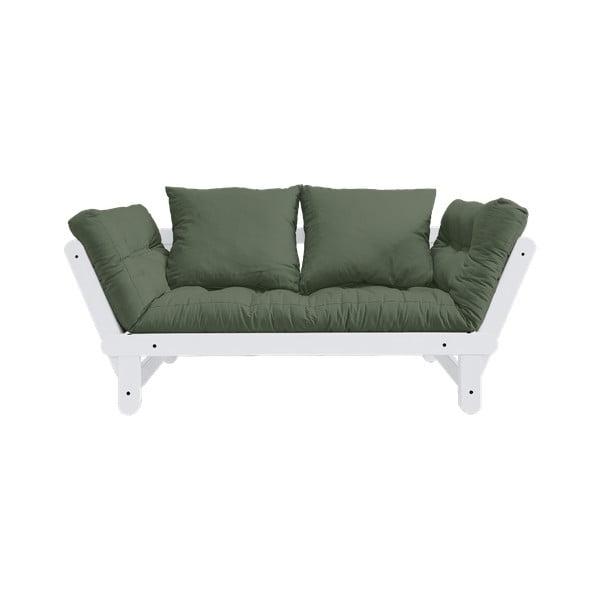Canapea extensibilă Karup Design Beat White, verde
