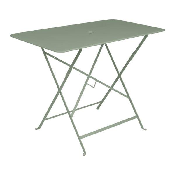 Šedozelený zahradní stolek Fermob Bistro, 97 x 57 cm