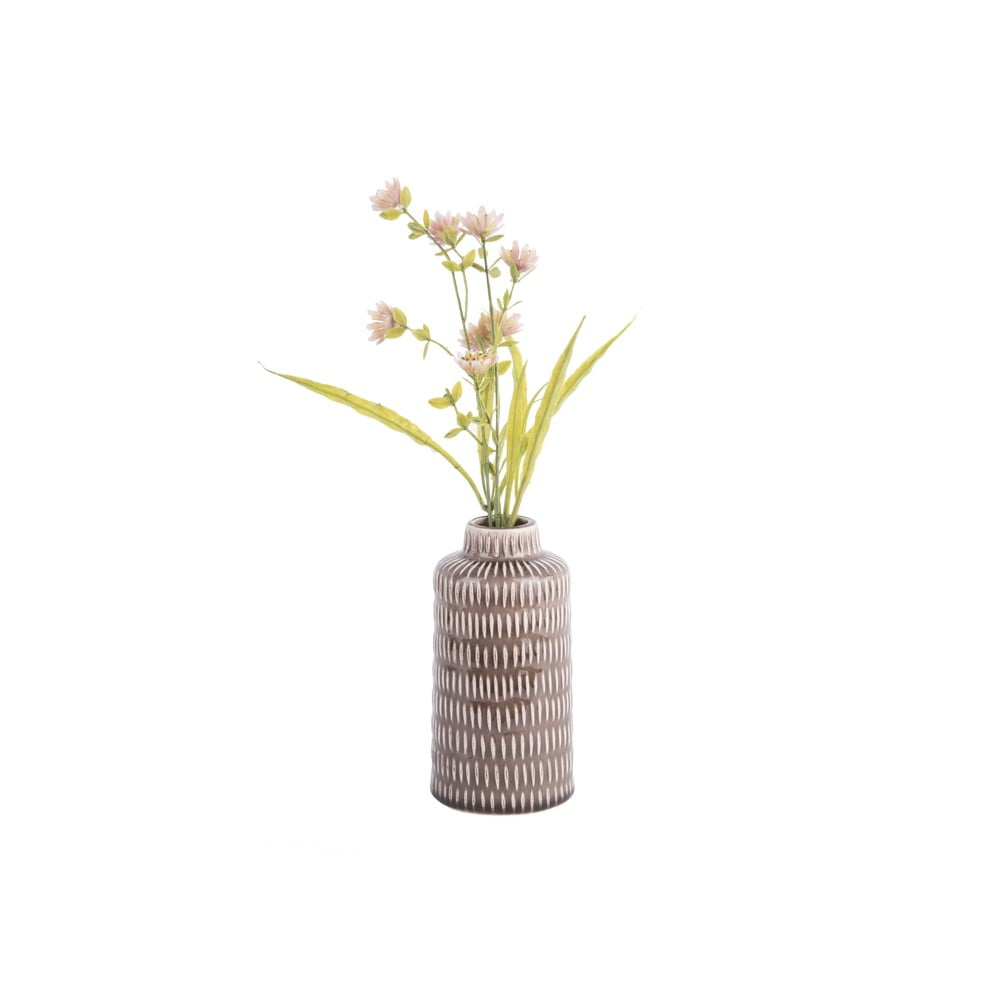 Hnědá keramická váza PT LIVING Nostalgia, výška17,5cm