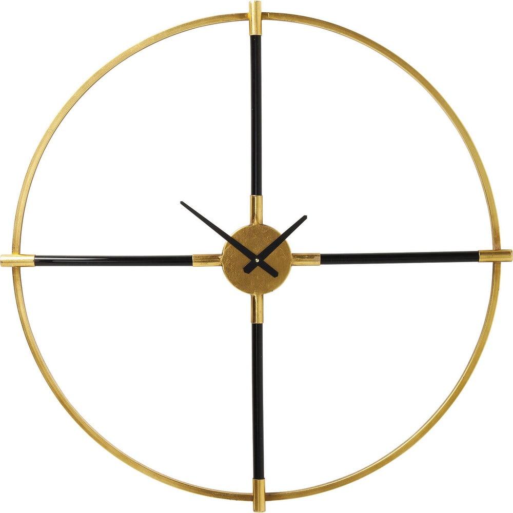 Nástěnné hodiny ve zlaté barvě Kare Design Magic Wand, ⌀ 91 cm