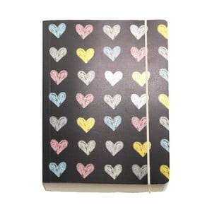 Zápisník A6 Go Stationery Chalk Hearts