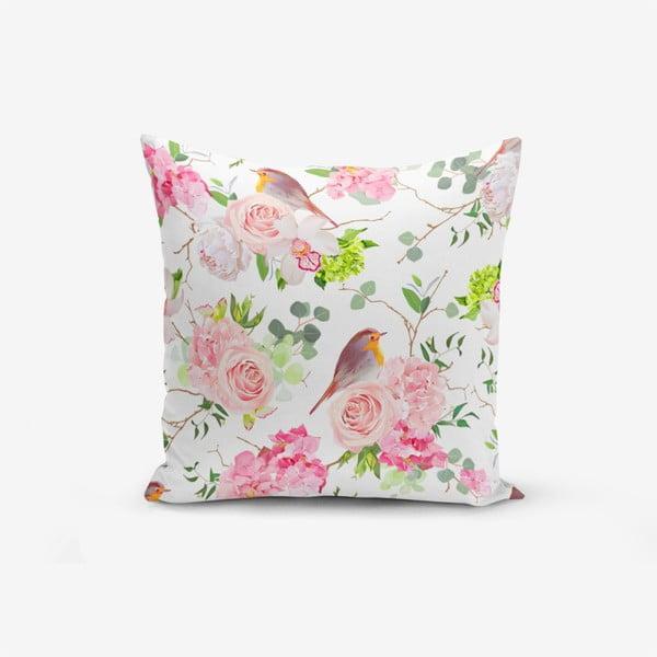 Față de pernă cu amestec din bumbac Minimalist Cushion Covers Colorful Bird Duro, 45 x 45 cm