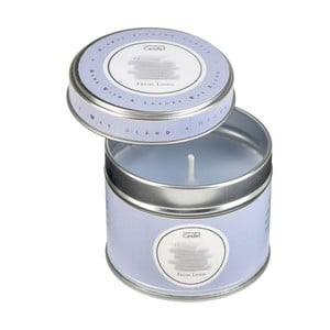 Aroma svíčka v plechovce s vůní čerstvě vypraného prádla Copenhagen Candles  Fresh Linen, doba hoření 32 hodin