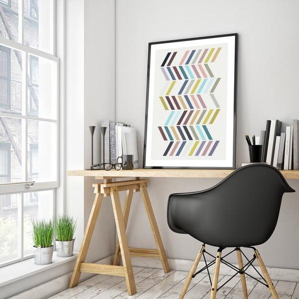 Plakát v dřevěném rámu Santolina, 38x28 cm