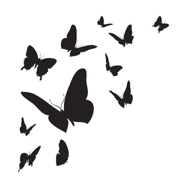Samolepka na stěnu Butterfly Silhouette