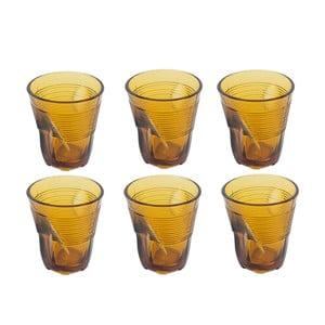 Sada 6 sklenic Kaleidos 225 ml, amber