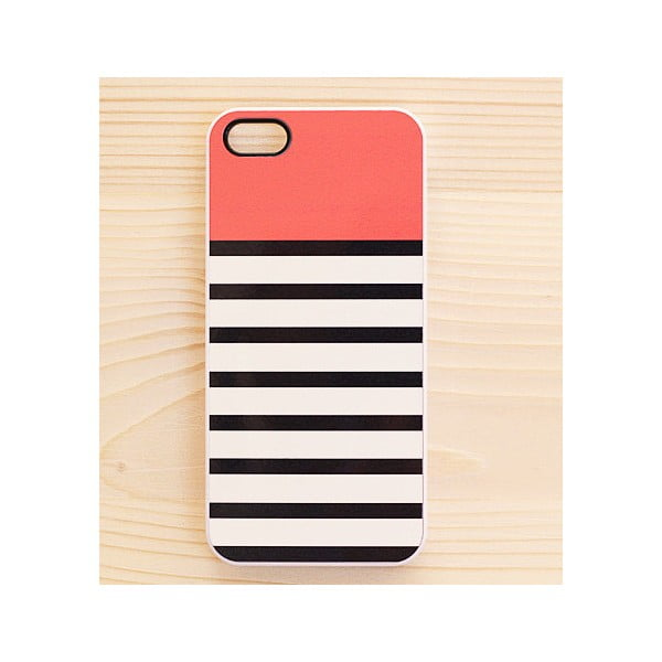 Obal na iPhone 4/4S, Coral Top in White
