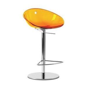 Oranžová barová židle Pedrali Gliss 970