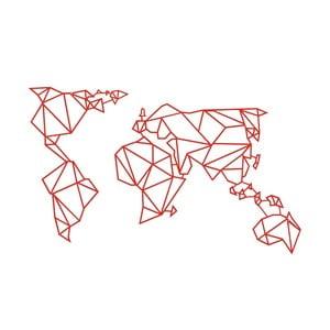 Decorațiune metalică de perete Wall Decor World, roșu