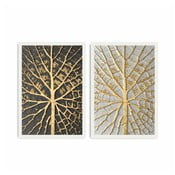 Tablou din 2 piese Home Leaves, 72 x 50 cm