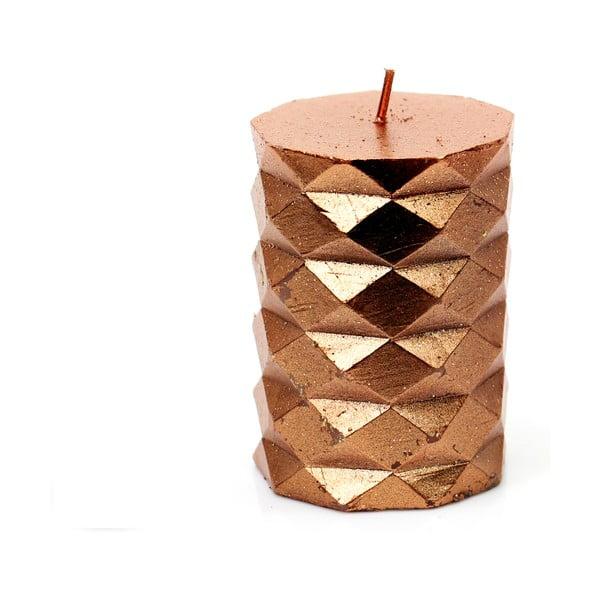 Geometryczna pomarańczowa świeczka Unimasa Fashion, wys. 7,6 cm