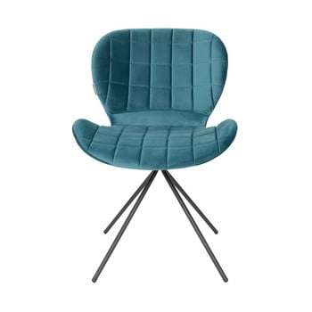Set 2 scaune Zuiver OMG Velvet, albastru de la Zuiver