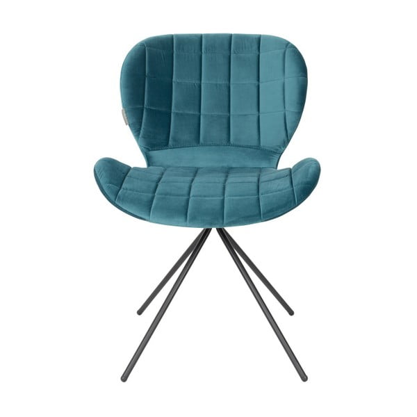 Set 2 scaune Zuiver OMG Velvet, albastru