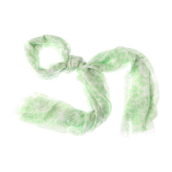 Šátek Smudge Green, 180x55 cm