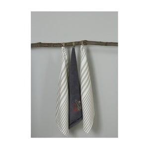 Sada 3 šedo-bílých kuchyňských utěrek My Home Plus Fork, 50 x 70 cm