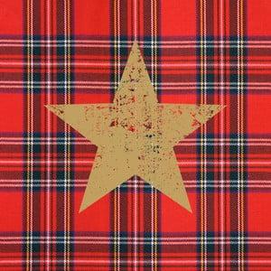 Balení 10 papírových ubrousků s vánočním motivem PPD Tartan Star Red