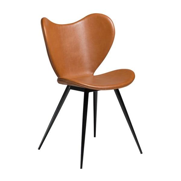 Brązowe krzesło ze skóry ekologicznej DAN-FORM Denmark Dreamer