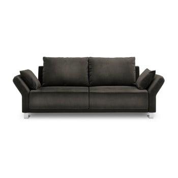 Canapea extensibilă cu înveliș de catifea cu 3 locuri Windsor & Co Sofas Pyxis, maro închis de la Windsor & Co Sofas