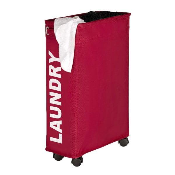 Červený koš na prádlo Wenko Corno