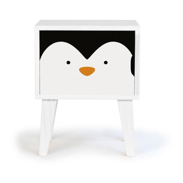 Dětský dřevěný noční stolek Little Nice Things Penguin
