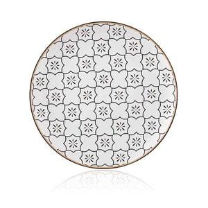 Černobílý talíř z kostního porcelánu The Mia Maroc Marrakesh, ⌀ 32 cm