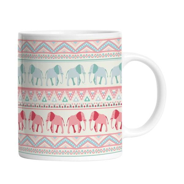 Keramický hrnek Lucky Elephants, 330 ml