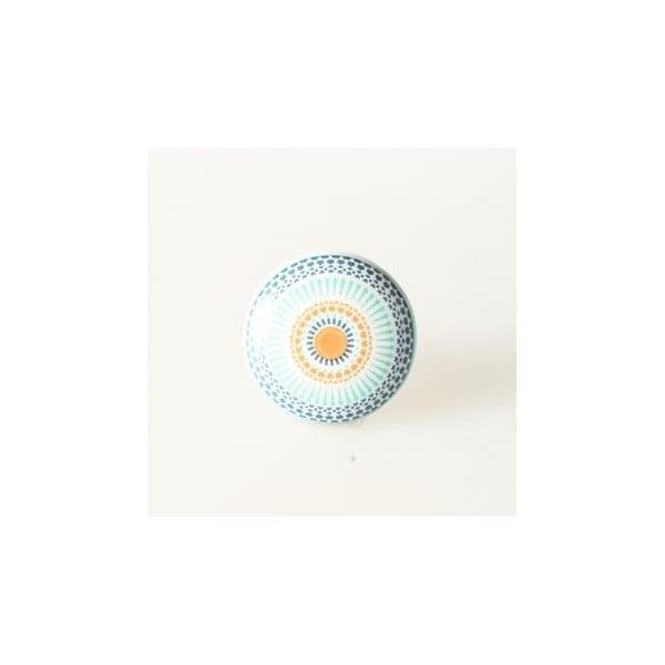 Porcelánová úchytka Blue Ornament