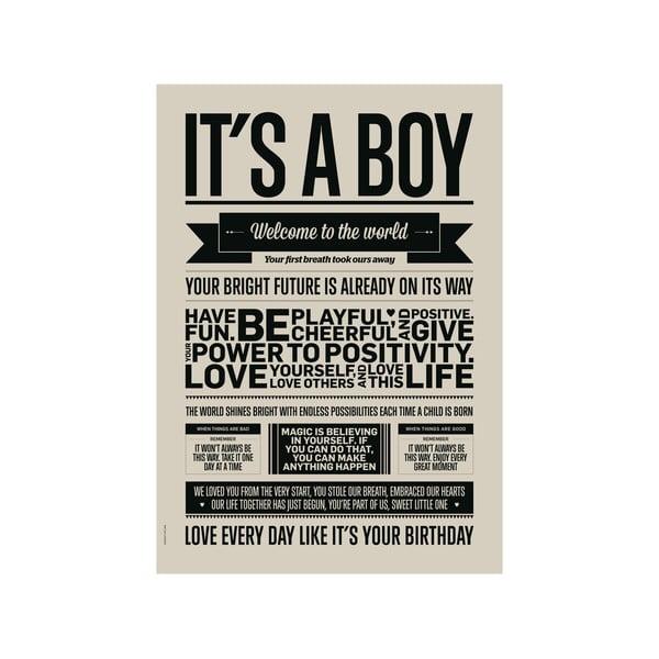 Autorský plakát It's Boy, A3