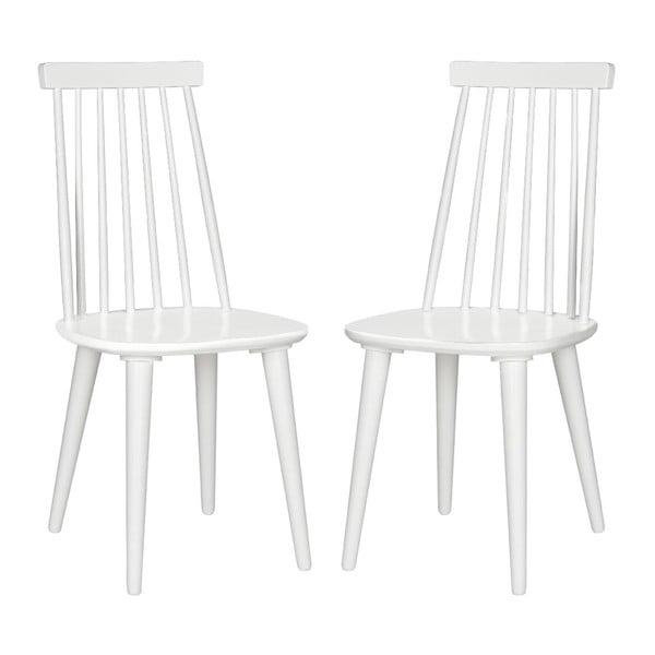 Sada 2 židlí Accent White