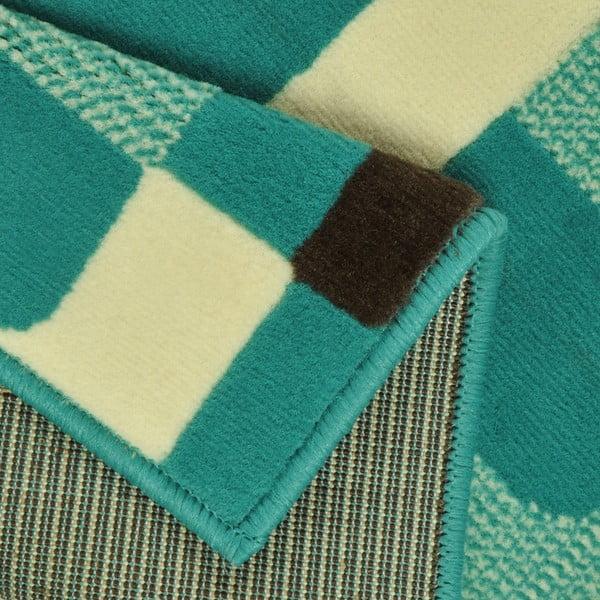 Modrý koberec Hanse Home Hamla Retro, 80x200cm