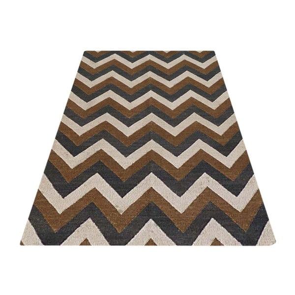 Vlněný koberec Kilim D no. 782, 140x200 cm