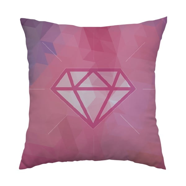 Polštář Pink Diamond, 40x40 cm