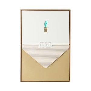 Set 10 felicitări cu plic Portico Designs FOIL Cactus