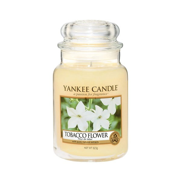 Lumânare parfumată Yankee Candle Tabacco Flower, timp de ardere 110 - 150 ore
