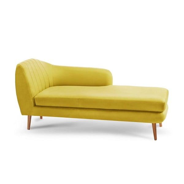 Canapea șezlong cu cotiera pe partea dreaptă Comete, galben