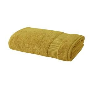 Hořčicově žlutý bavlněný ručník Bella Maison Basic,50x90cm