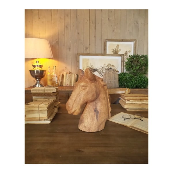 Dekorace z mangového dřeva Orchidea Milano Horse, výška 31 cm