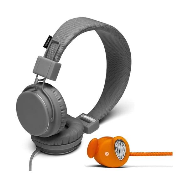 Sluchátka Plattan Dark Grey + sluchátka Medis Orange ZDARMA